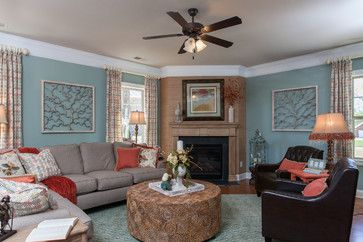 HOW TO ARRANGE A RECTANGULAR FAMILY ROOM WITH A CORNER