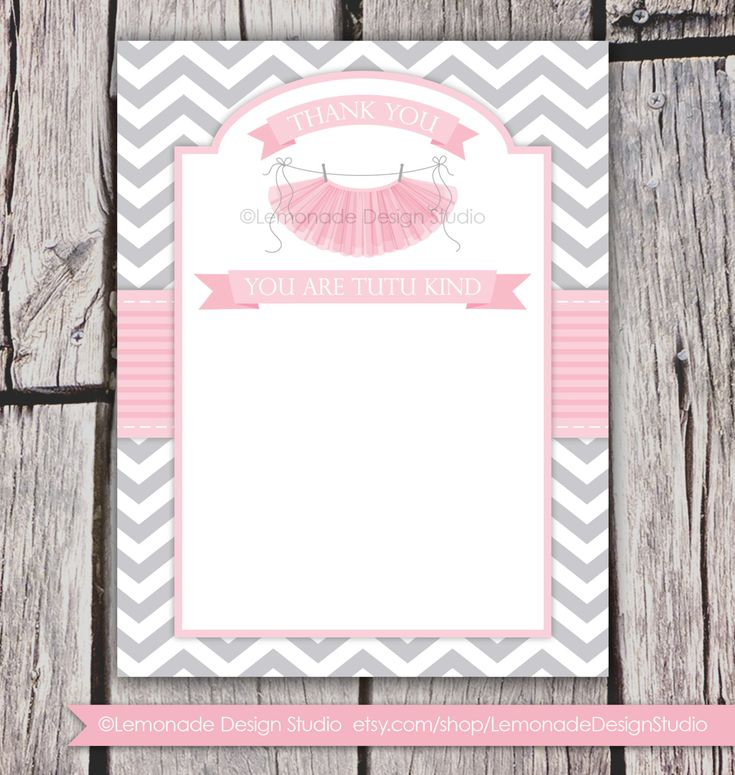 tutu cute baby shower invitation chevron pink grey girl baby sh