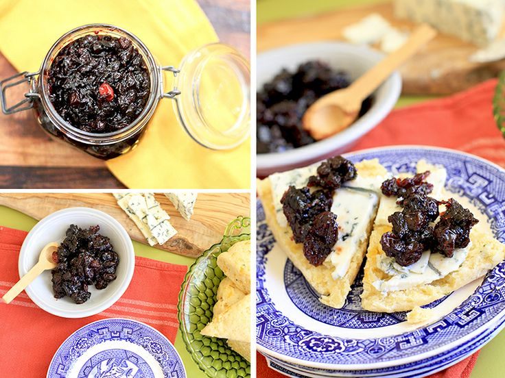 Cranberry Port Jam with blue cheese and cheddar scones - yum!