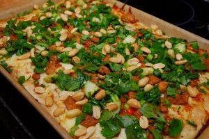 thai chicken pizza.. | Food and Beverage | Pinterest