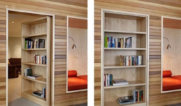 Space Saving Interior Doors with Shelves Offering Convenient Storage ...