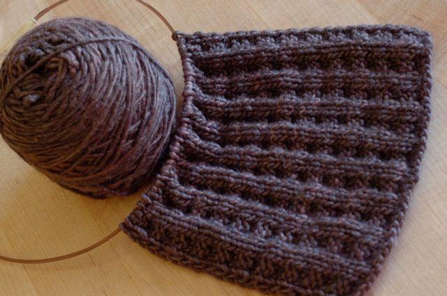 Waffle stitch Knitting / Crocheting / Sewing Pinterest