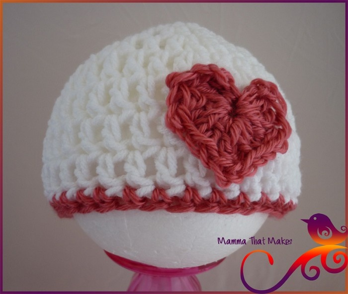 Valentine crochet hat, Crocheted Baby things Pinterest