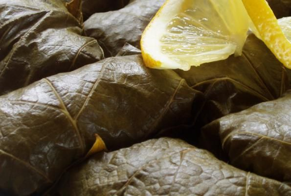 Vegetarian Grape Leaves (Dolmades) Recipe — Dishmaps