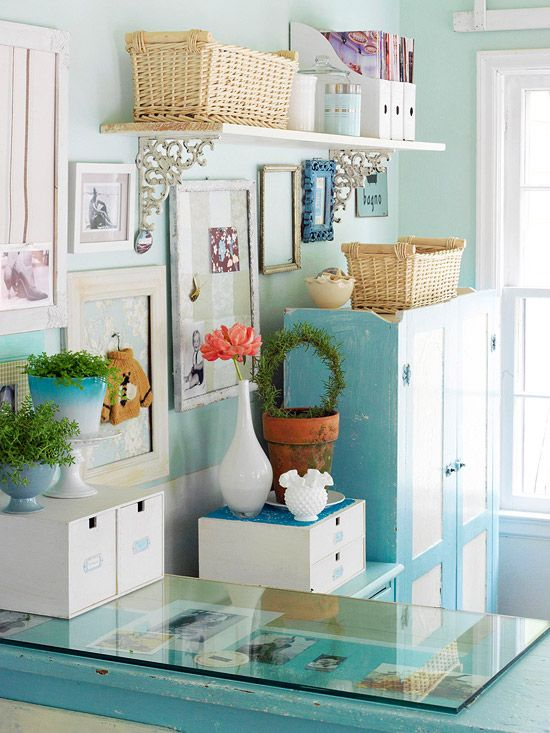 love this clutter! By Better Homes and Gardens