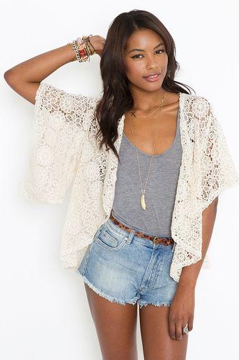 Crochet Kimono clothes Pinterest
