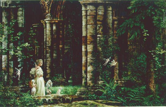 Queen Mab in Ruins - James Christensen. More at http://www.jameschristensen.com/prints.htm#prints