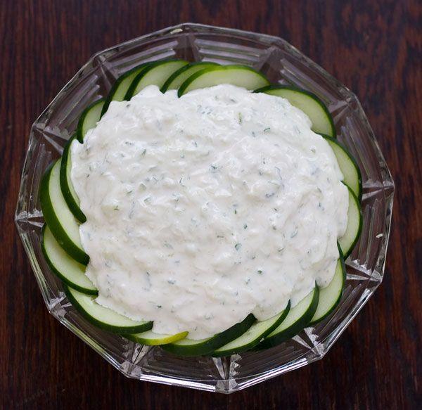 Cucumber & Greek yogurt dip