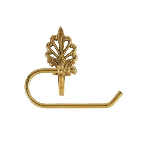 Fleur de lis european lacquered polished brass toilet paper holder br - Fleur de lis toilet paper holder ...
