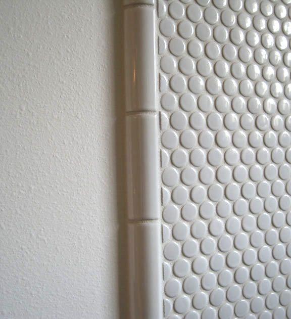 Creative Edges Of A Bathroom Ceramic Tile