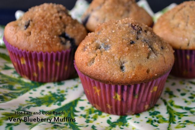 Hot Eats and Cool Reads: Very Blueberry Muffins Recipe
