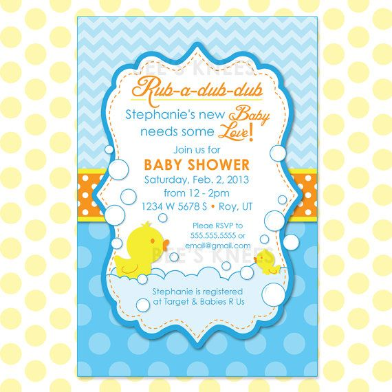 rubber duck baby shower invitation rubber duckie printable customizab