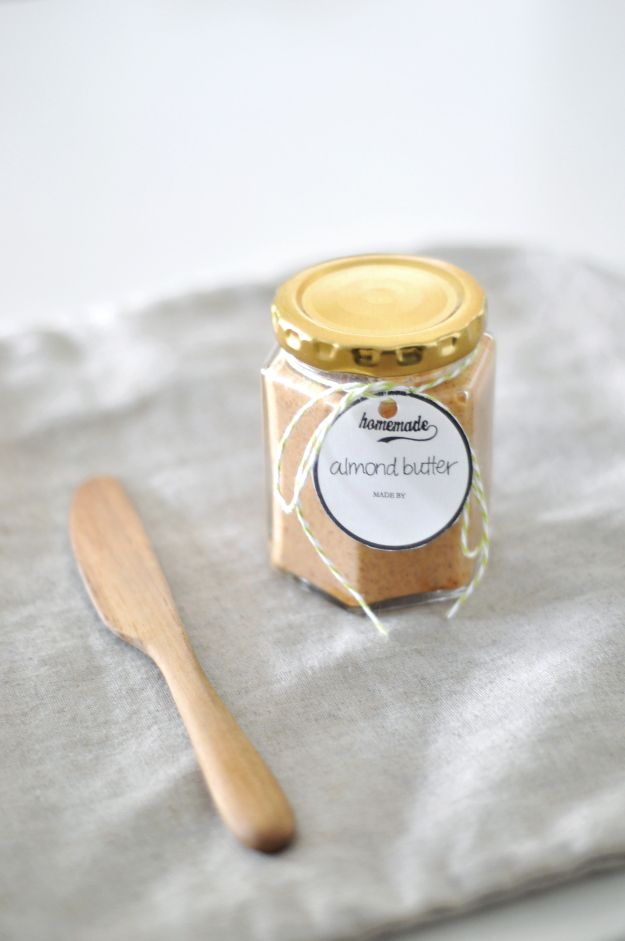 homemade almond butter | Recipes | Pinterest