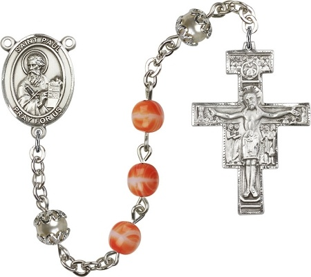 Personalized rosaries, this one was created for the University Catholic Center at The University of Texas at Austin.