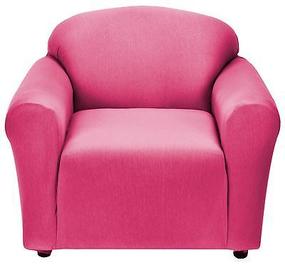 Pink Jersey Chair Stretch Slipcover Couch Cover