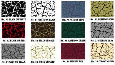 Crackle Paint Color Combinations
