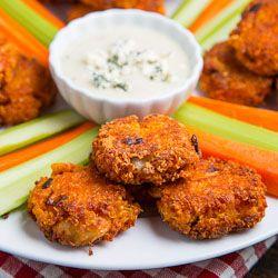 Buffalo Chicken Quinoa Fritters | foods | Pinterest