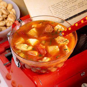 ... Roasted Vegetable Chowder | MyRecipes.com #myplate #protein #vegetable