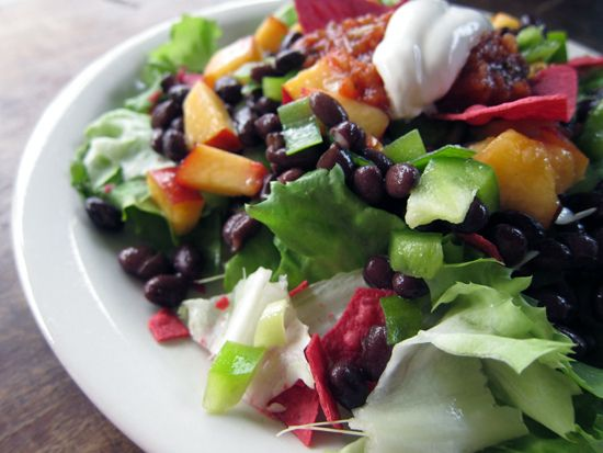 Nectarine and Black Bean Crunch Salad | Salad | Pinterest