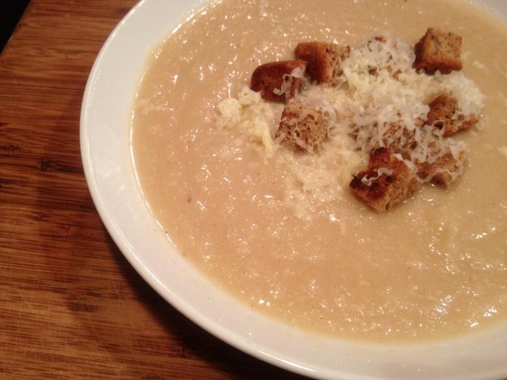 Cauliflower and Cheddar Soup | emmycooks.com Vegetarian Thanksgiving ...