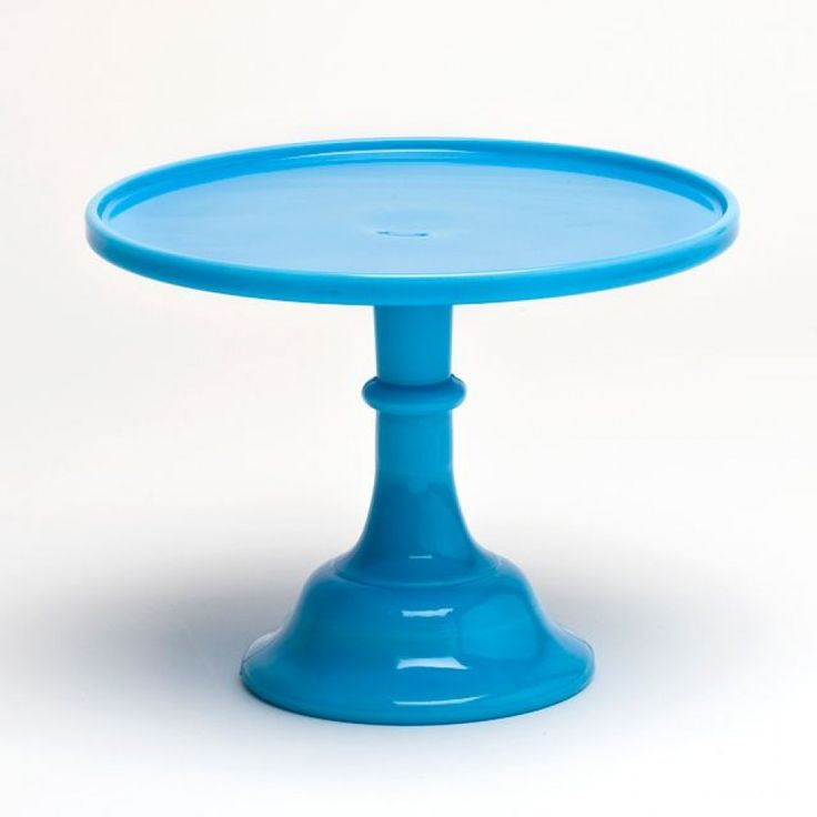 Blue glass cake stand gibson glass cake stand inch for Colored glass cake stand