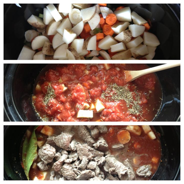 Beef Stew: 2lbs stew beef, onion, parsnips, carrots, celery, potatoes ...