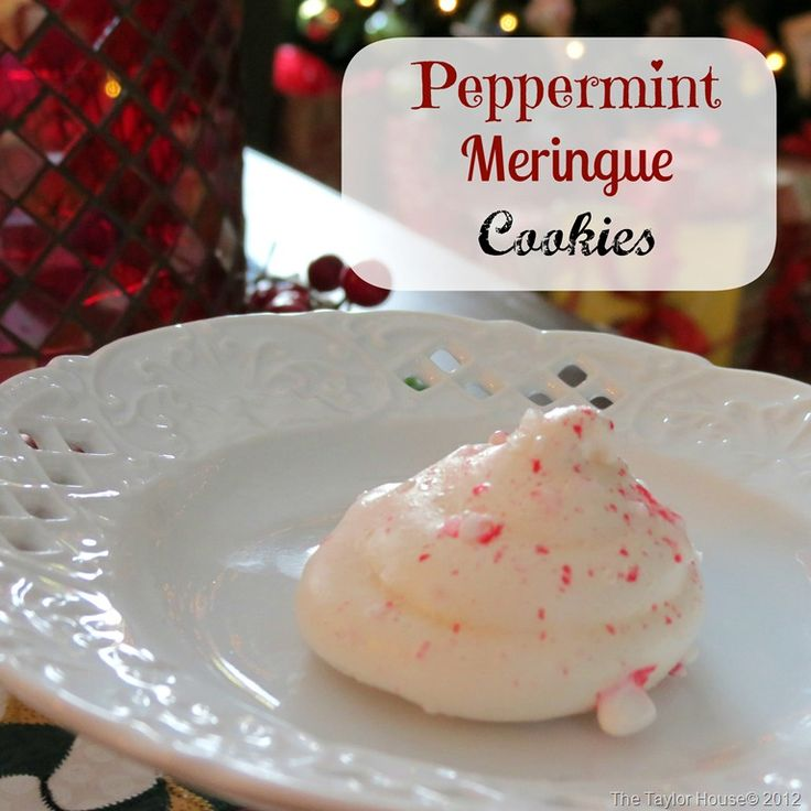 Peppermint Meringue Cookies | Recipe
