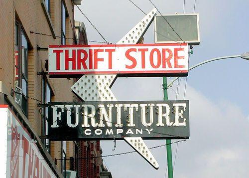 Thrift Store Furniture Sign Flea Market Findings Pinterest