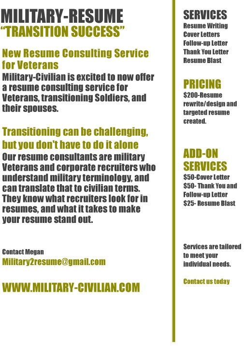 Resume writing service prices for veterans