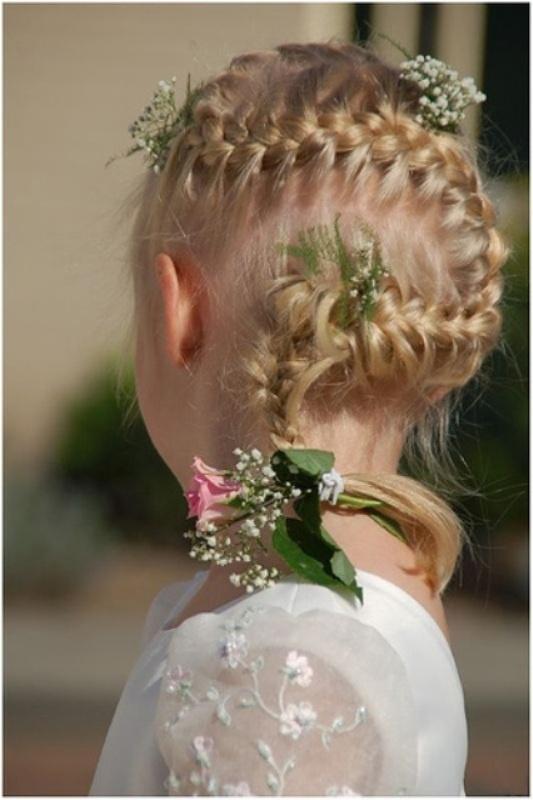 Wedding Hairstyles For Flower Girls