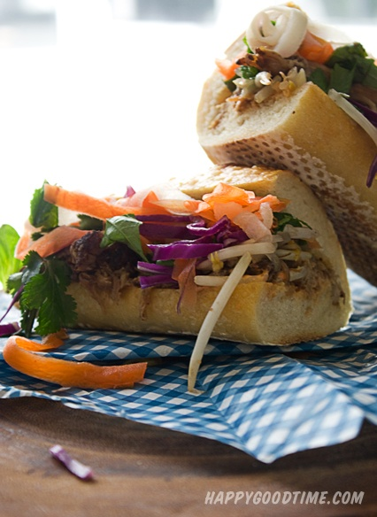 Banh Mi with Lemongrass Pulled Pork | Get in my belly | Pinterest