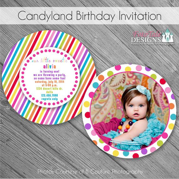 ... Birthday Invitation- custom photo templates for photographers on