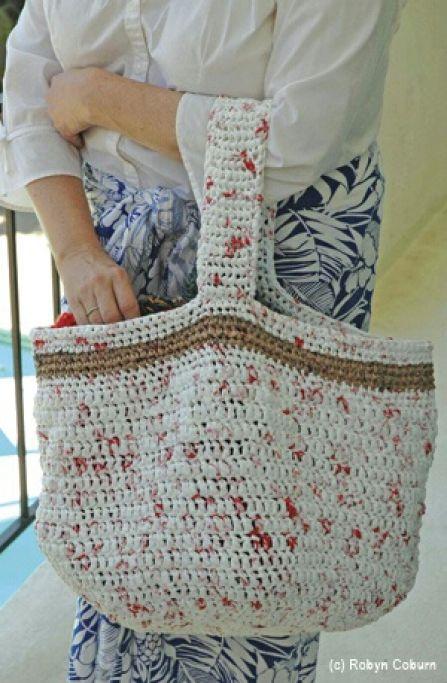 Plarn Oversized Shopping Bag.jpg   Crocheters Anonymous©   Pinterest