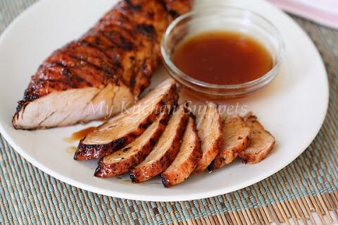 Apricot Glazed Grilled Pork Tenderloin | for the feast | Pinterest