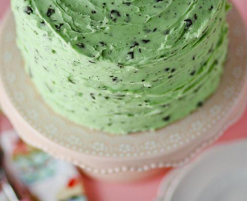 Mint Chocolate Chip Cake // | CAKE LADY | Pinterest