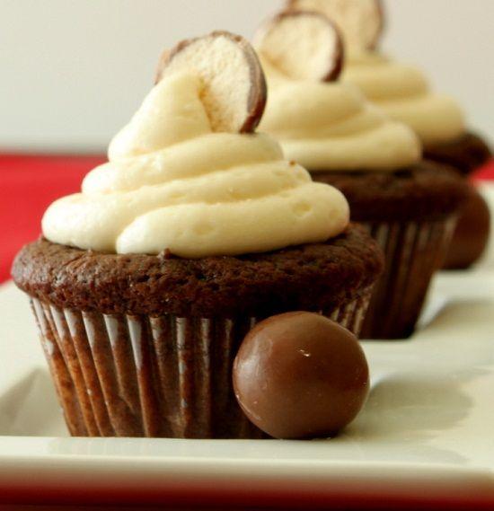 Chocolate Malt Cupcakes | Desserts to Try | Pinterest