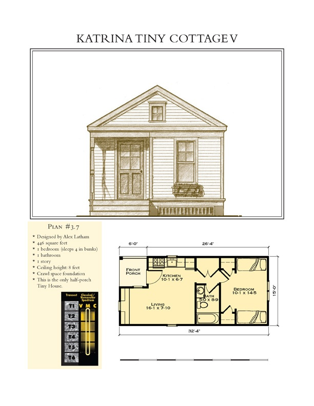Katrina Tiny Cottage V Small Space Floor Plans Pinterest