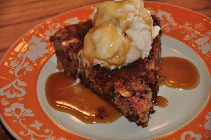 Apple Season Cake w/Hot Caramel Sauce | DESSERTS | Pinterest