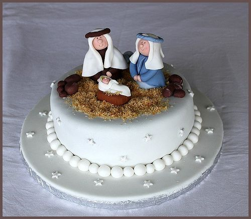Nativity Christmas Cake Design : Pin by Mel Hess on cool cakes and ideas for parties and ...