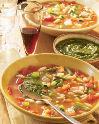 Sunday Slow Cooker: Chicken Minestrone With Pesto