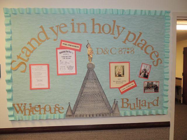 lds 2013 bulletin board idea | just b.CAUSE