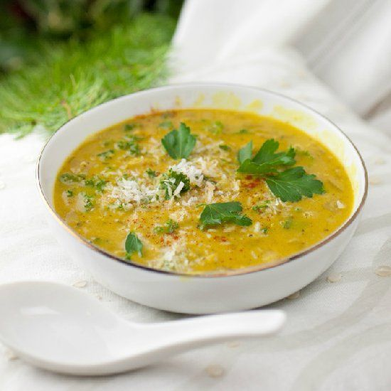 Creamy Spiced Coconut Lentil Soup - A beautiful combination of ...