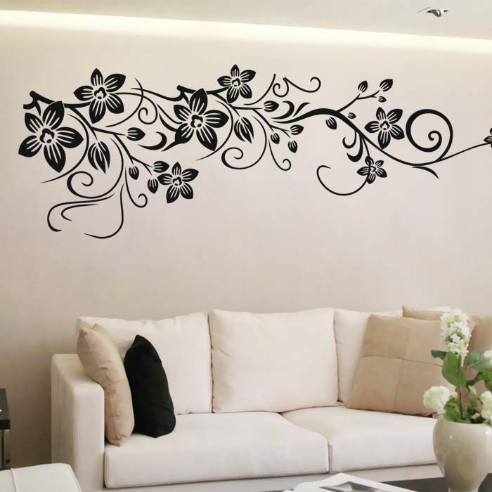Goods should be blooming flower vine wall stickers ...
