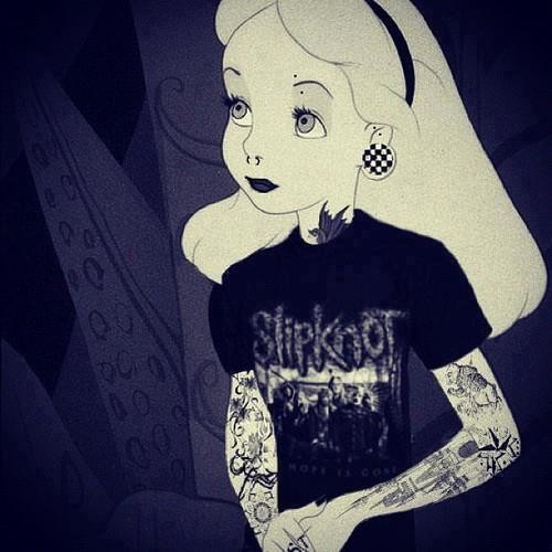 emo/gothic disney princess