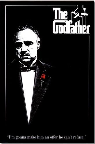 The godfather framed movie poster