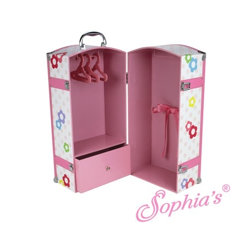 Doll Furniture For 18 Inch Dolls The Fashionable Doll - Doll Storage Trunk for 18 Inch Dolls, $96.95 ...