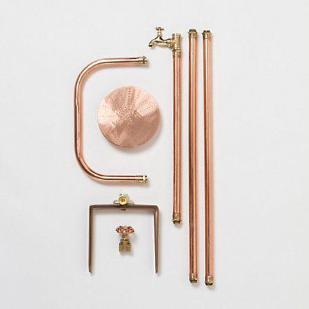 Copper Outdoor Shower