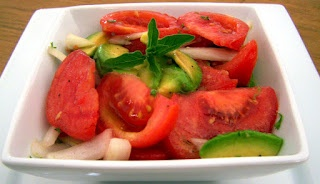 Balsamic Tomato Salad with Fresh Herbs and Avocado