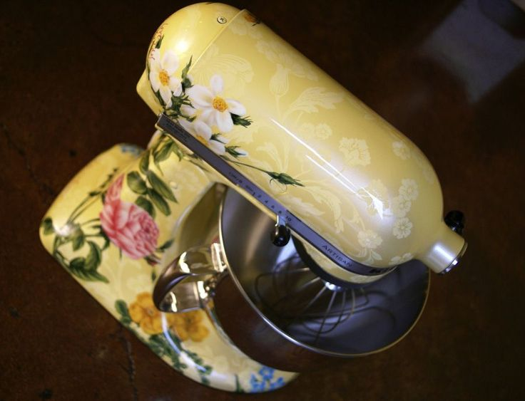 Pin by brenda dyer wilson schlosser on products i love pinterest - Decorated kitchenaid mixer ...