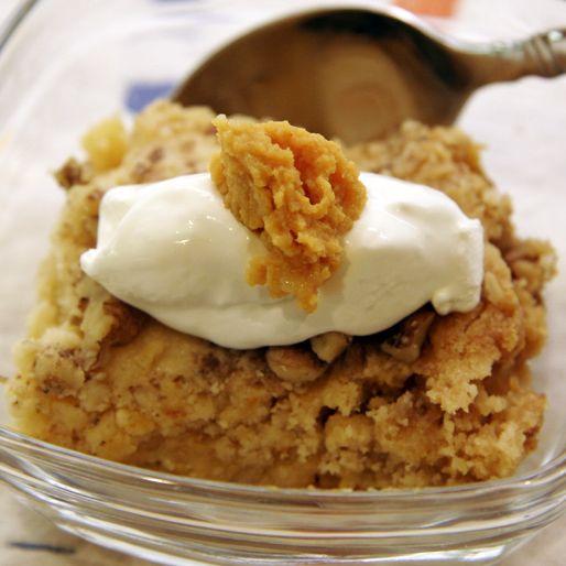 Pumpkin Crunch- love all things pumpkin + yellow cake mix.